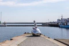 雕塑韩在赫尔新哥,丹麦 图库摄影