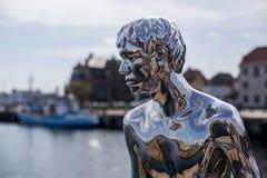 雕塑韩在赫尔新哥,丹麦 库存照片