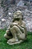 雕塑魍魉水 免版税库存照片