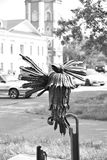 雕塑鸟健谈的人在沃洛格达州 库存照片