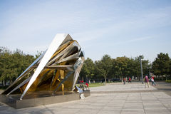 雕塑,三度空间演变 免版税库存图片