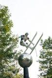 雕塑,飞行雪 图库摄影
