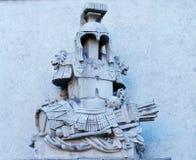 雕塑:盔甲、装甲和战争诱捕  图库摄影