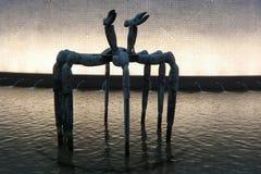 雕塑1 -一般1984年在尖沙咀香港 免版税库存照片