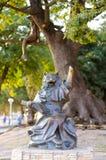 雕塑& x22; 博学的Cat& x22;在Gelendzhik散步上 免版税库存图片