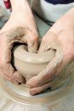 雕塑黏土 黏土手工制造罐 口哨 免版税图库摄影
