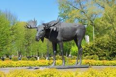 雕塑`麋` 免版税图库摄影