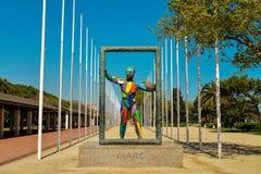 雕塑Marc在巴塞罗那 库存图片