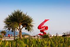 雕塑Tomie Ohtake,桑托斯,巴西 库存图片