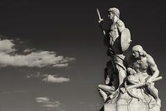 雕塑vittoriano黑白的罗马 免版税图库摄影