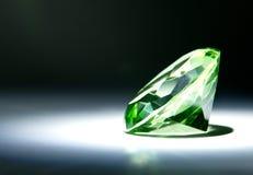 雕琢平面的宝石绿色 免版税库存照片