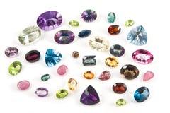 雕琢平面的宝石 免版税库存照片