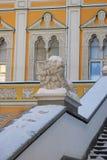 雕琢平面的房间在莫斯科克里姆林宫 科教文组织世界遗产站点 免版税库存图片