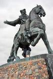 雕象俄国女皇骑马的Elisaveta (伊丽莎白) 库存照片