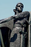 雕象北欧海盗 免版税图库摄影