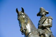 雕象华盛顿 免版税图库摄影