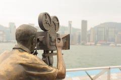 雕象和地平线在星大道 免版税库存照片