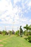 雕象和恐龙公园  免版税库存照片