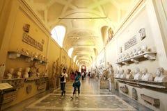 雕象和雕塑画廊在梵蒂冈博物馆 皇族释放例证
