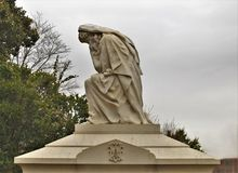 雕象在上帝` s英亩公墓在老萨利姆 库存照片