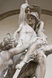 雕象在佛罗伦萨意大利 图库摄影