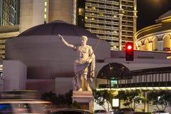 雕象在凯撒宫旅馆& 图库摄影