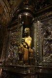 雕象在圣诞老人玛里de蒙特塞拉特修道院,西班牙 免版税库存照片