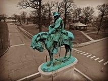 雕象在底特律 免版税库存照片