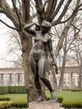 雕象在庭院里他Alte Nationalgalerie 库存图片