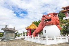 雕象在文武庙,渔池乡,南投县 图库摄影