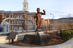 雕象在波士顿 免版税图库摄影