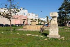 雕象在索维拉麦地那  摩洛哥 库存图片