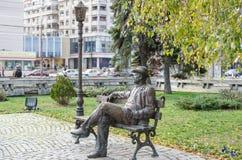 雕象在街市普洛耶什蒂 免版税库存照片