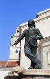 雕象在西万提斯位置 免版税图库摄影