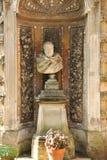 雕象在马尔他骑士团的庭院里 免版税库存照片
