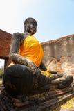 雕象在Ayuddhaya泰国 库存照片