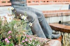 雕象在Kitano区在神户,日本 库存照片