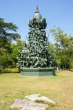 雕象在Mueang Boran 免版税库存照片