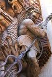 雕象在theTreasure海岛旅馆和赌博娱乐场里在拉斯维加斯 免版税库存图片