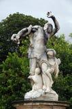 雕象在Tuileries庭院,巴黎,法国里 免版税库存图片