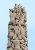 雕象在Vigeland公园 挪威奥斯陆 免版税库存照片