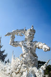 雕象在Wat荣Khun 免版税图库摄影