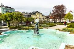 雕象地精在格蒙登,奥地利 免版税图库摄影