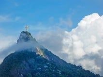 雕象基督救世主在里约 免版税图库摄影