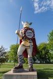 雕象大好极了北欧海盗 免版税图库摄影