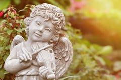 雕象天使 免版税库存照片