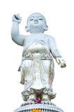 雕象完善的小儿科在白色背景的。 库存图片
