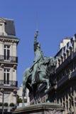 """雕象描述乔治・华盛顿将军, '美国的父亲' - byFrench & Potter (1900)在地方dâ⠂¬â """"¢Iena站立- 库存图片"""