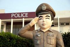 雕象泰国警察 免版税库存图片