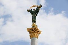 雕象独立基辅,乌克兰 免版税库存图片